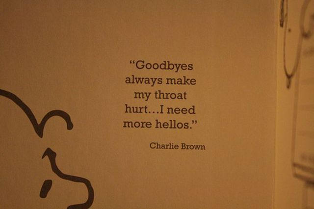 Goodbyes: Good Bye, Goodbye, Charli Brown, Charliebrown, Inspiration Quotes, Wise Words, Senior Quotes, True Stories, Charlie Brown