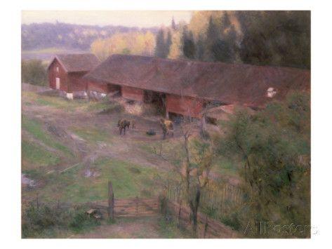 Autumn, 1891 Giclee Print by Erik Theodor Werenskiold at AllPosters.com