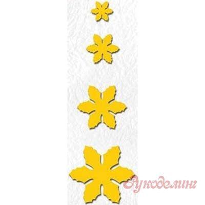 Набор ножей Christmas Flowers (Рождественские цветы) от Nellie Snellen