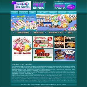 http://www.bingotopgames.co.uk  Online Bingo is becoming very specialized supply positive games and websites for women only providing a safe environment where women can play bingo online meet new friends and take home big profits.
