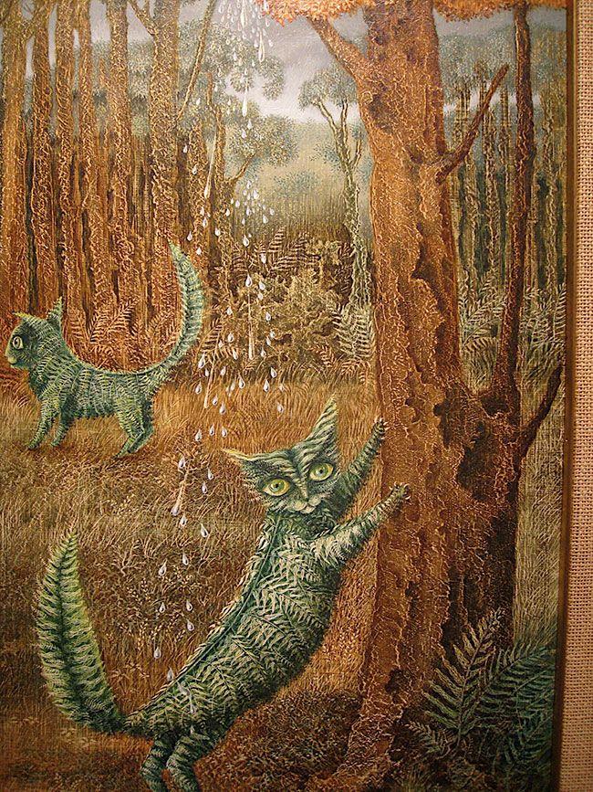 remedios varo, leafy kitties