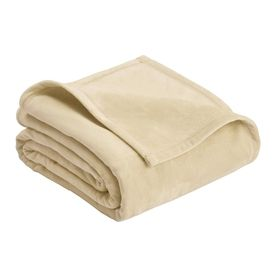 Vellux By Westpoint Home Micro Mink Cream 108-In L X 90-In W Polyester Blanket 1B06287