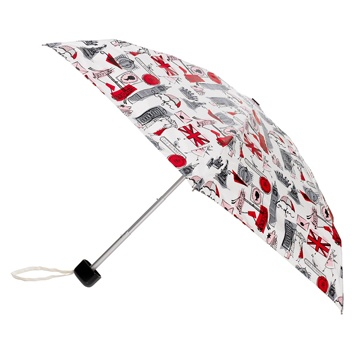 Lulu Guiness' London Print Umbrella- Perfect for the journey home