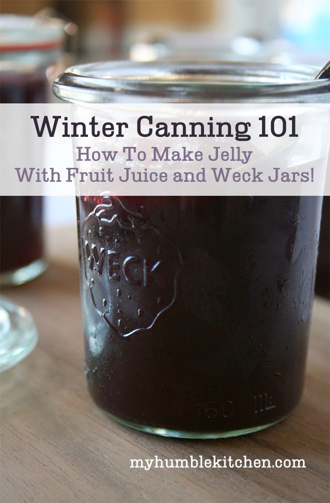 Winter Canning 101: How To Make Jelly With Fruit Juice and Weck Jars PLUS GIVEAWAY!! | myhumblekitchen.com
