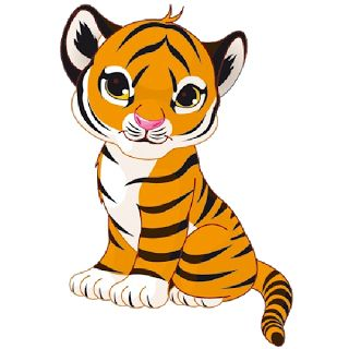 white tiger cub pictures | Tiger Cubs Cute Cartoon Animal Images
