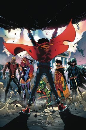 SUPER SONS #7 Written by PETER J. TOMASI • Art and cover by JORGE JIMENEZ • Variant cover by DUSTIN NGUYEN