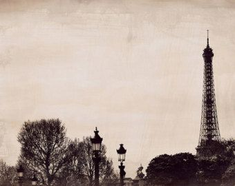 Flatterie Parigi Art Print Parigi paesaggio di LeighViner su Etsy