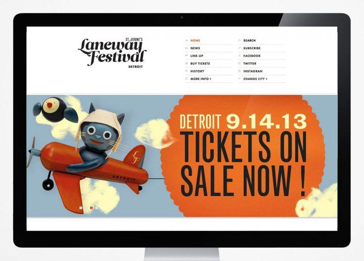 Laneway Festival Detroit. Responsive website design. #responsive #interfacedesign