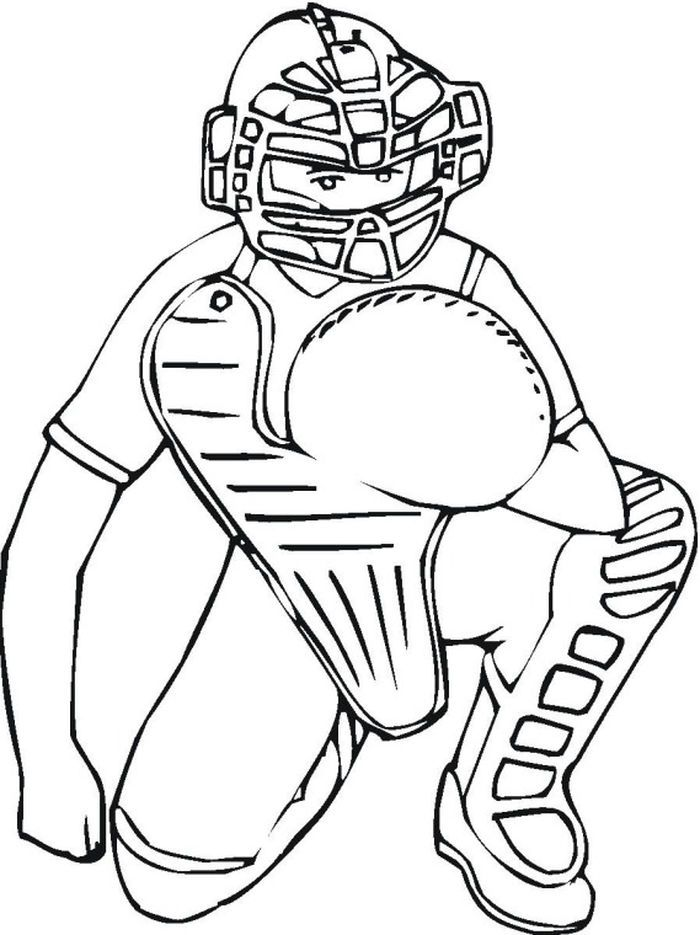 Baseball Catcher Coloring Pages Baseball Coloring Pages Sports Coloring Pages Coloring Pages