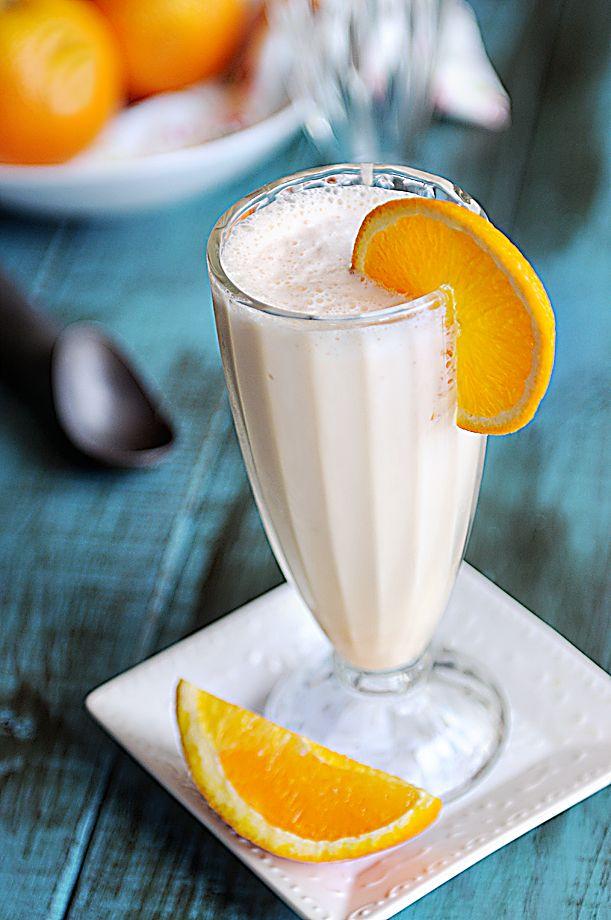 Cream Orange Milkshake via @DineandDish