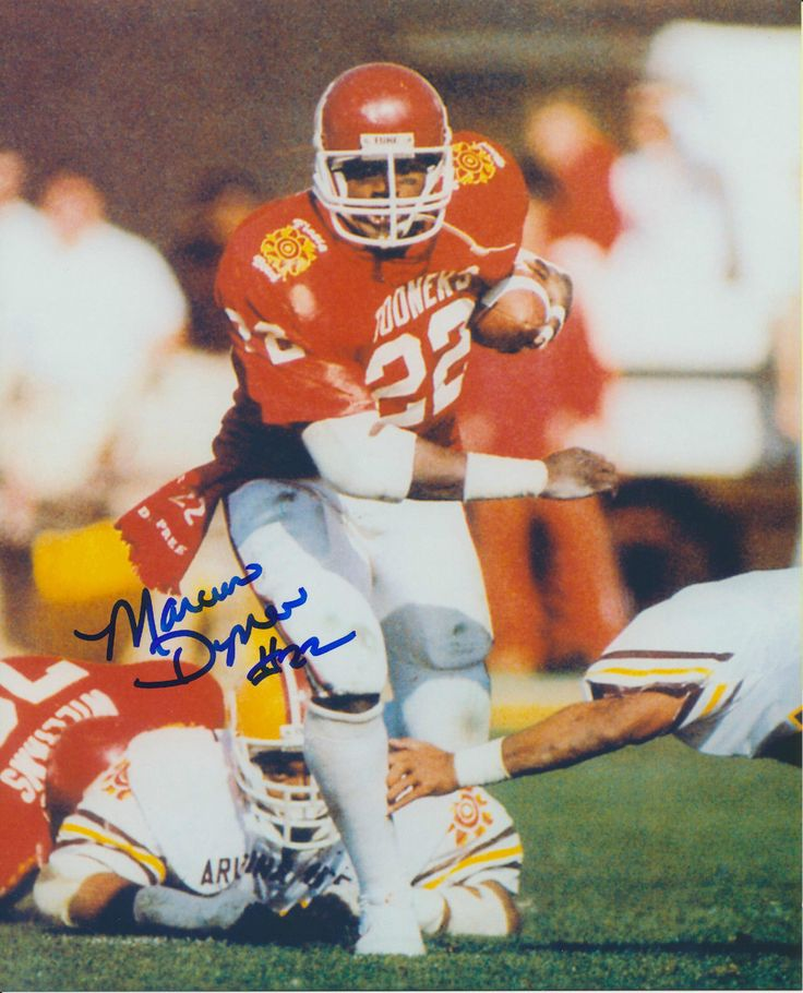 Marcus Dupree Autographed 8x10 Oklahoma Sooners