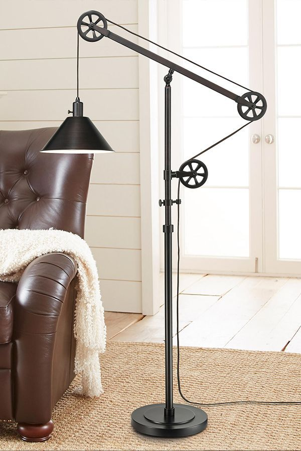 Wall Lamps To Give Your Room Character Pulley Floor Lamp Floor Lamp Design Rustic Floor Lamps
