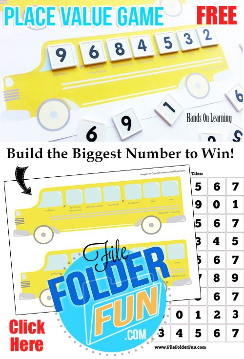 Simple yet super fun place value game build the biggest number to win