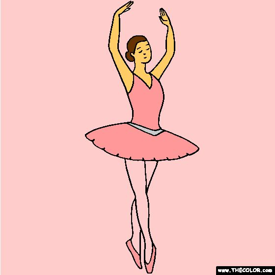 Ballerina fifth position Ballet Coloring Page