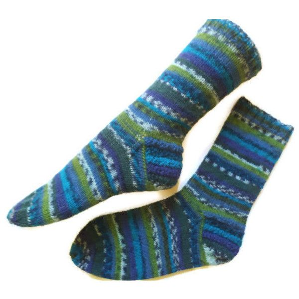 Wool socks, Gift for him, men wool socks, wool leg warmers, knit wool... (110 ILS) ❤ liked on Polyvore featuring men's fashion, men's clothing, men's socks, mens woolen socks, mens blue socks, mens socks and mens wool socks