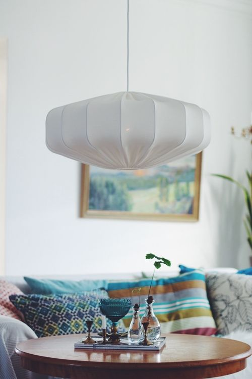 Taklampa retro ECO off white 60 cm  lampverket