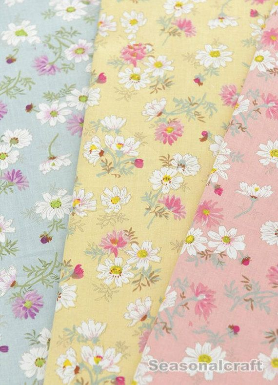 Metre Craft Fat Quarter bundle Yellow Floral Fabrics 100/% Cotton Material