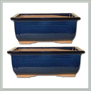 "2 Ceramic Bonsai Pots – Japanese Houtoku Brand – Blue 6/7 These pots are very attractive, priced competitively and are cheaper than the ones sold at nurseries. http://theceramicchefknives.com/large-ceramic-pots/  'Spiraling Cloud', 16 "" Plastic White Swan Planter, 2 Ceramic Bonsai Pots - Japanese Houtoku Brand - Blue 6/7, 3-Piece, 8-Inch, Ceramic Beige Flower Plant, Ceramic Beige Flower Plant Pot,"