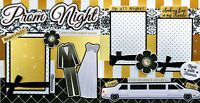 PROM NIGHT ~ 2 Premade Scrapbook Pages 3D paper piecing layout 4 album ~ CHERRY