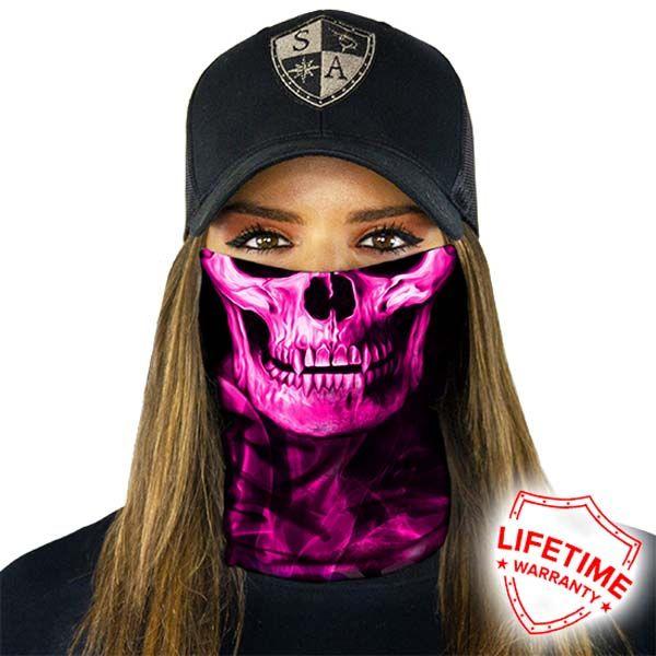 PINK CROW Tubular Bandana Face Shield Sun Mask Balaclava