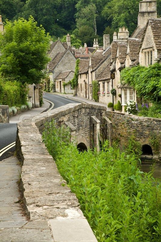 Castle Combe in Somerset, England