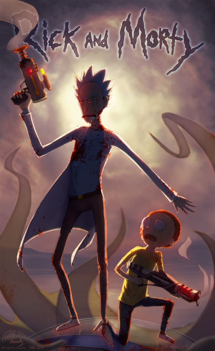 Gravity Falls Wallpaper Celular Hd Rick And Morty Overly Dramatic Post By Dragonclaudz Gustos