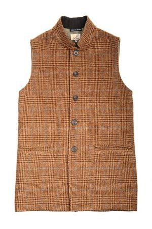 Campbell's of Beauly - Mens Tweed Nehru Collar Gilets