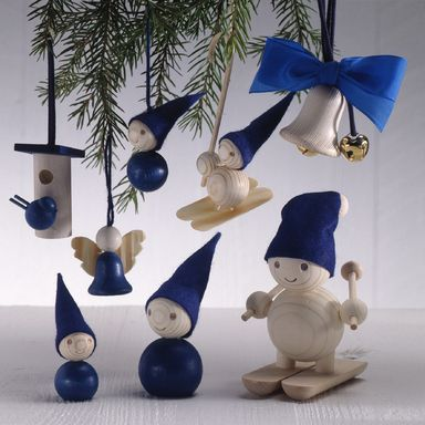 Aarikka blue Christmas decorations 1990's