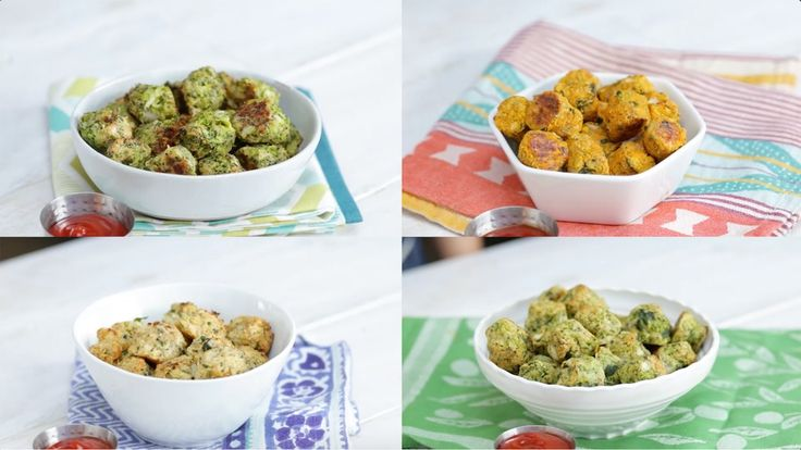 Recipe with video instructions: Ordinary tater tots have nothing on these guilt-free, savory snacks. Ingredients: ¼ cup onion, diced, ⅓ cup breadcrumbs, ⅓ cup Parmesan cheese, 3 Tbsp parsley, chopped, 1 large egg, Salt and pepper, 2–3 cups broccoli florets, cooked