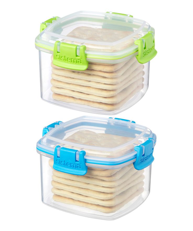 Green & Blue Small Cracker Container Set of Two by