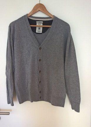 Kaufe meinen Artikel bei #Kleiderkreisel http://www.kleiderkreisel.de/herrenmode/pullis-and-sweatshirts-sonstiges/138229059-graue-herren-strickjacke-tom-tailor