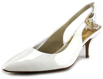 MICHAEL Michael Kors Kelsey Kitten Sling Patent Leather Slingback Heel.