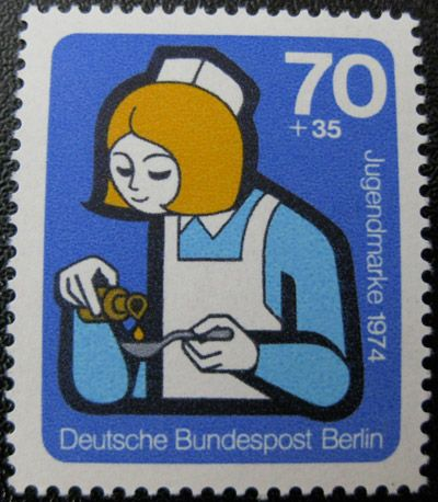 Postage Stamp. Berlin 1974