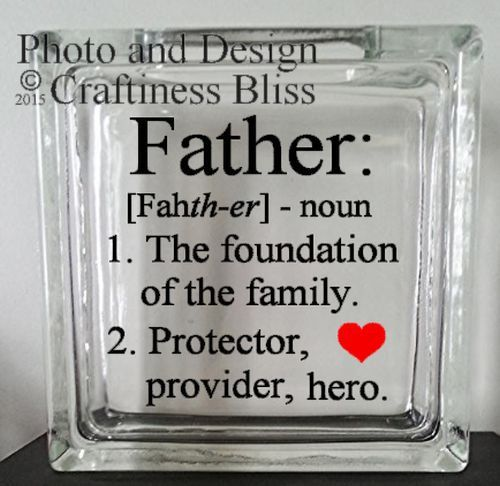 Father Definition Father's Day  Custom 8 x 8  by CraftinessBliss