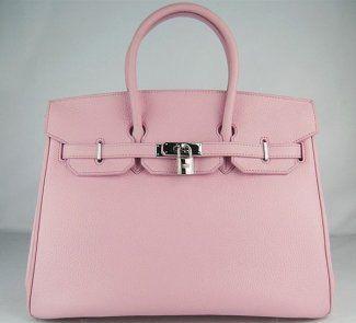 Hermes Cowskin Leather Handbag #pink
