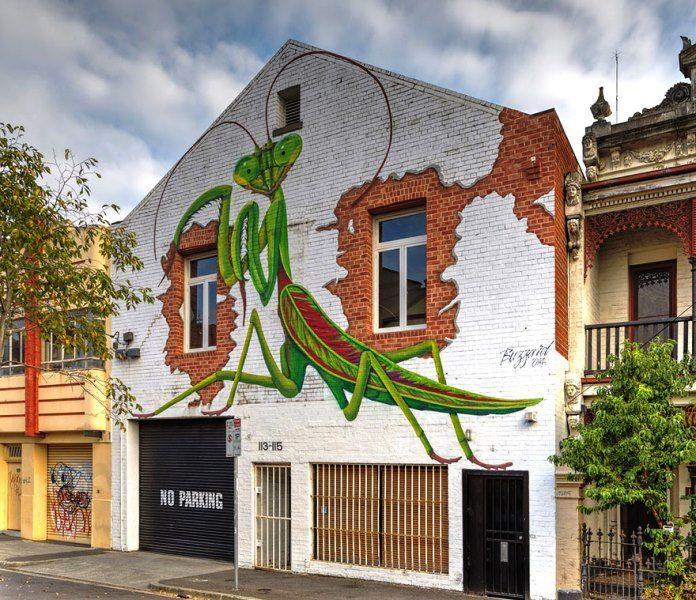 Seni Jalanan Lukisan Mural di Kota Melbourne di Australia 2