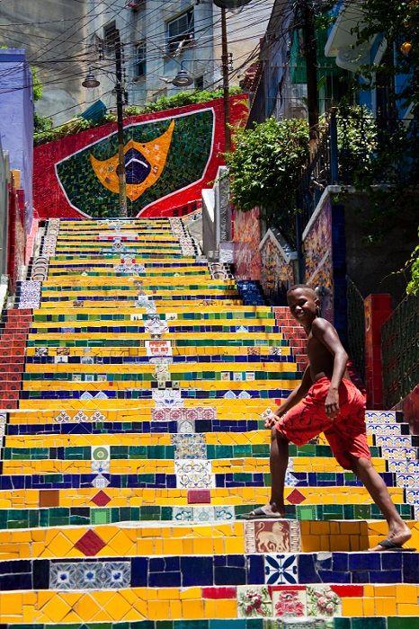 Escadaria Selaron, Rio de Janiero, Brazil