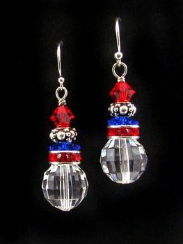 Freedom Fireworks Crystal Earrings   Earrings