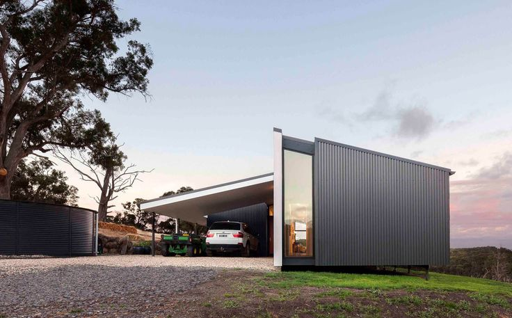 Daylesford Prefab House by Prebuilt (via Lunchbox Architect) #COLORBONDsteel #monument