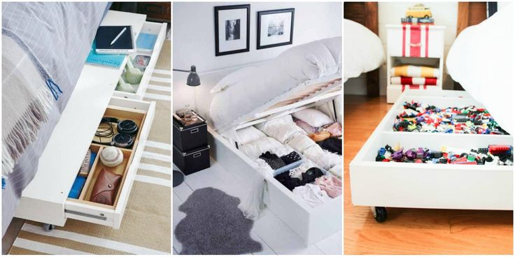 9 Ways to Make the Storage Under Your Bed Work Harder http://www.housebeautiful.com/lifestyle/organizing-tips/g3552/under-the-bed-storage-ideas