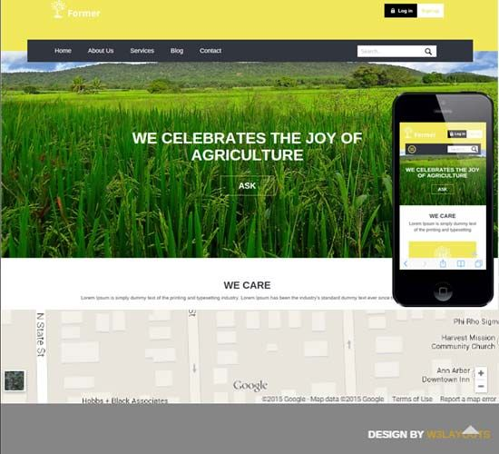 agriculture website templates templates download free website