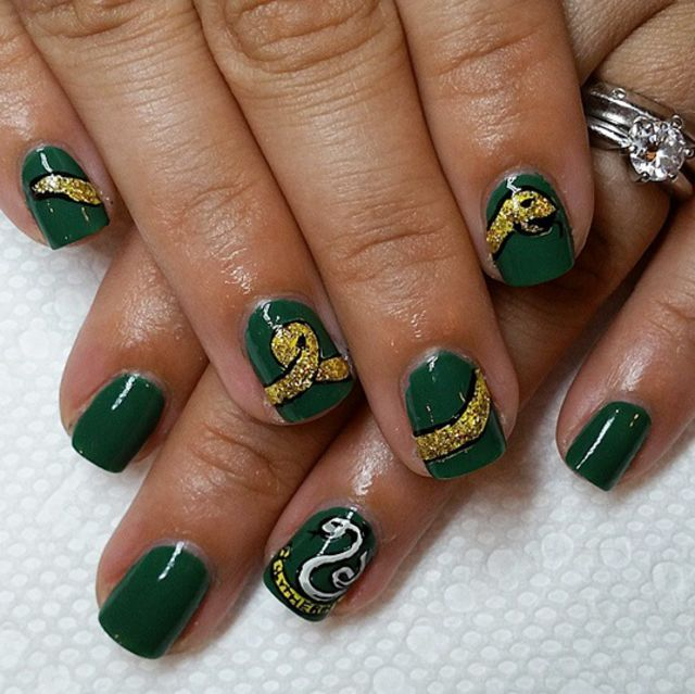 Dahlia Nails Ravenclaw Nail Art: 165 Best Images About Slytherin On Pinterest