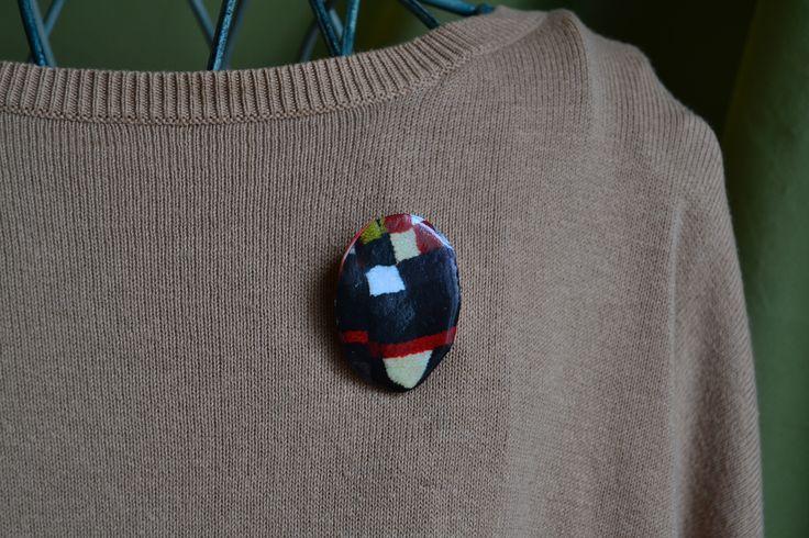 brooch, handmade, paper