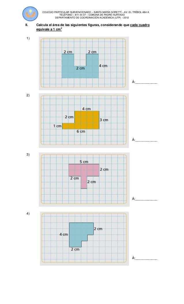 Guía de matemáticas perimetro area