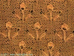 Flower Garden - Knittingfool Stitch Detail