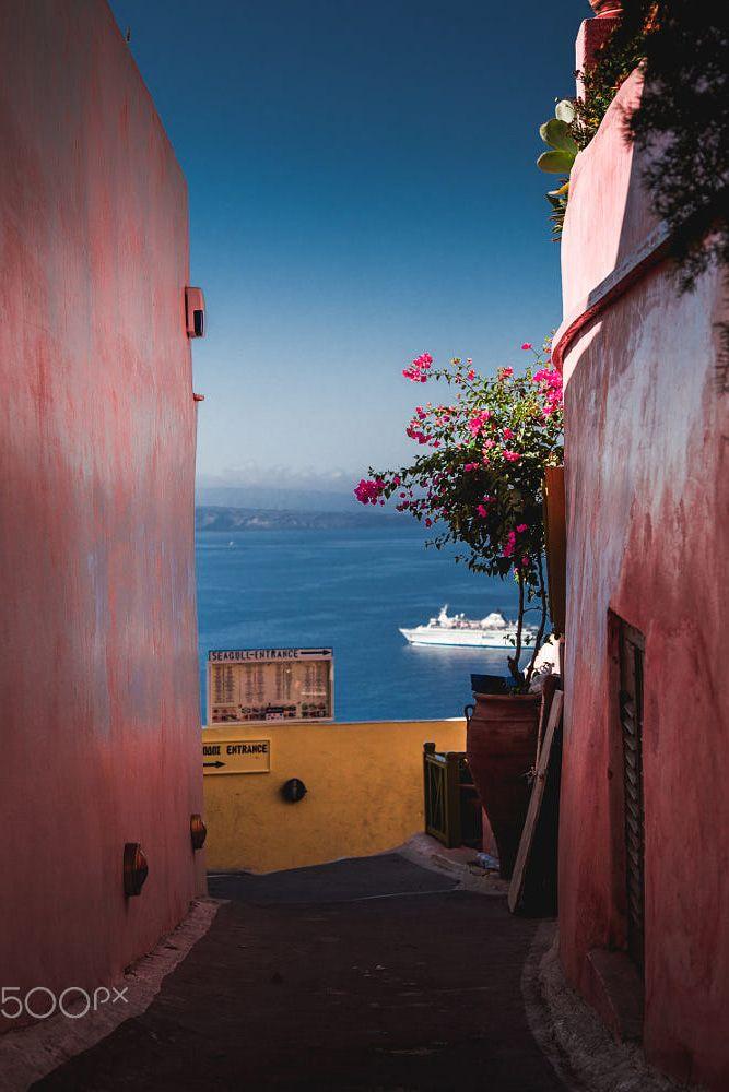 Path to blue, Oia, Santorini