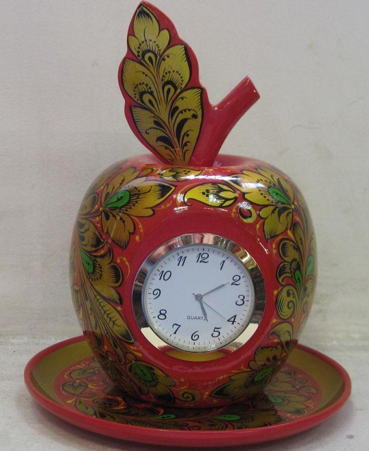Часы-яблоко, Семёновская хохлома