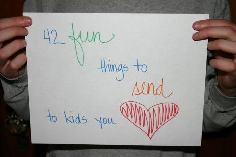 42 fun things to send to kids you love. Lots of quick and easy things for grandmas to put in the mail. Kids love receiving them.