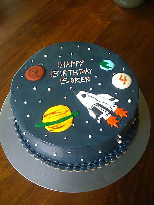 Solar System Cake Round Single Tier Cakes Pinterest