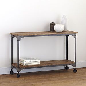 Industrial console table: Aiden Console, Consoles, Coffee Table, Living Room, World Market, Kitchen, Family Room, Console Tables